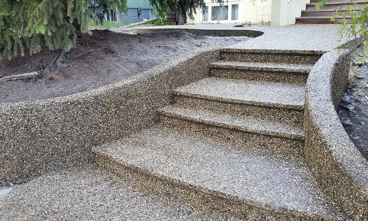 For This Reason, Exposed Aggregate Is Ideal For Walkways And Stairs U2013  Although You Can Use It In Many Other Applications, Including Driveways,  Patios, ...