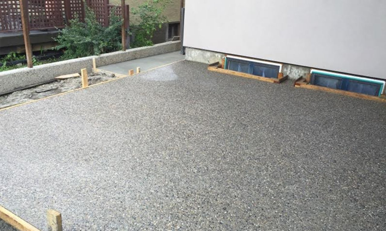 Exposed Aggregate Luigi39s Concrete and Foundation